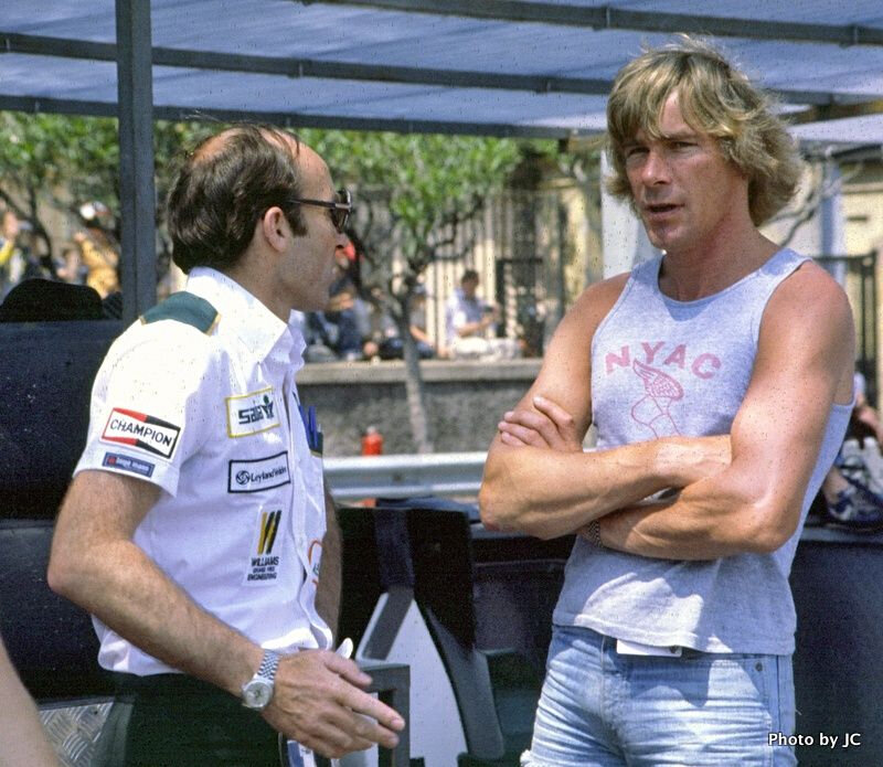 JAMES HUNT WITH FRANK