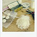 Confection accessoires mariage en cours