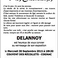 L'atelier des vies silencieuses de delannoy, récollets cognac 28 septembre/10 octobre 2015