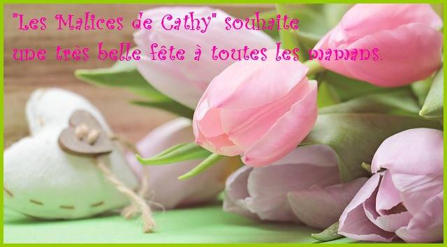 tulipes et coeur fête des mères