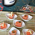 Saumon mariné aux saveurs asiatiques (gingembre et coriandre) façon gravlax