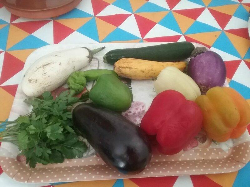 Tarte au poulet et aux légumes multicolores variés (2) 1