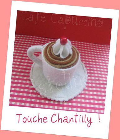 café capuccino chantilly