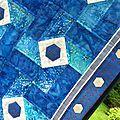 patch carrés bleu détails 2