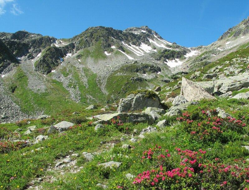 en montant au Col de la Charbonnière