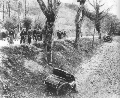 1898 course de périgueux - de montariol (benz parisienne), marquis de montaignac (landrey-et-beyroux) de montaignac killed in racing's first fatal accident