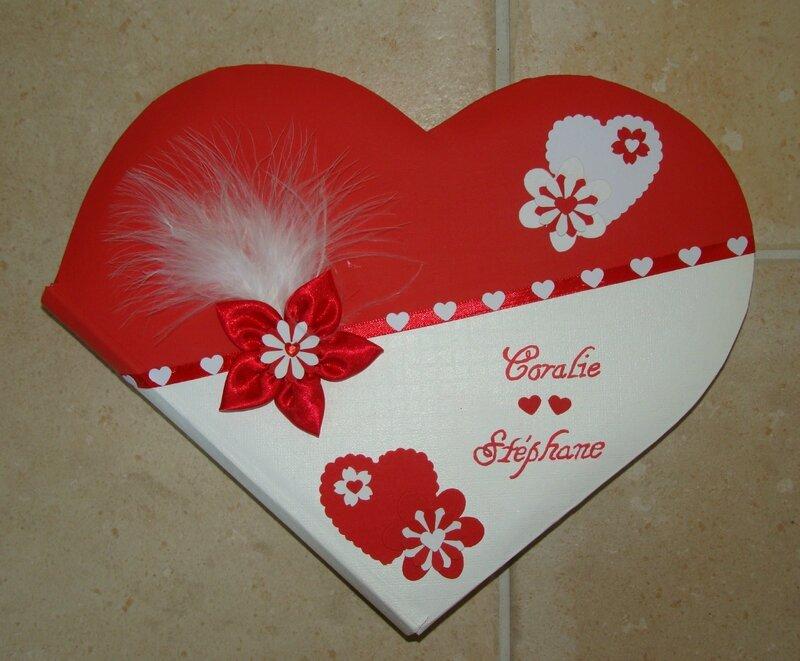Livre D Or Coeur Rouge Blanc Les Creas De Sylvie