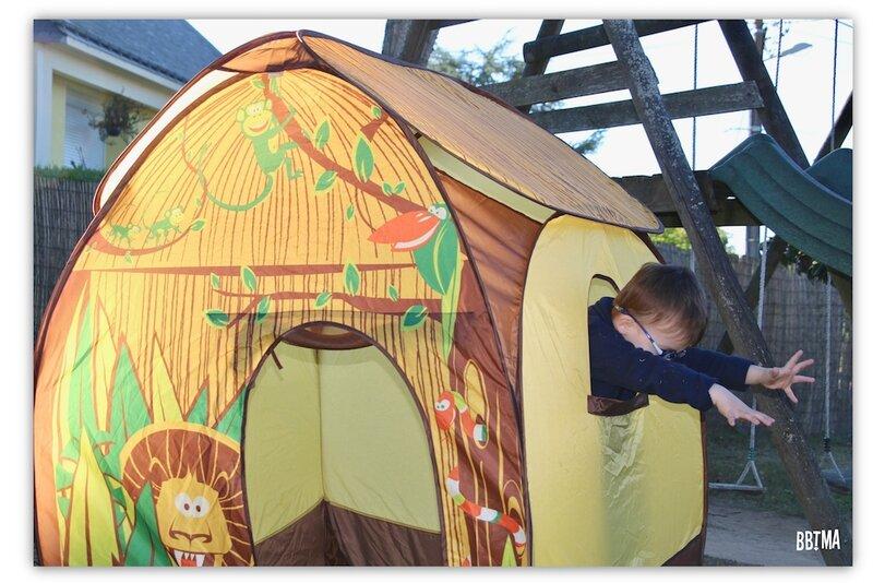 5 Tente pop up jungle ludi jardin extérieur jouet maison enfant jeux toile bbtma blog parents efluent5