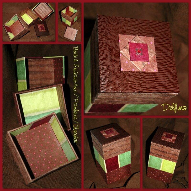 Boîte à bijoux anis framboise chocolat