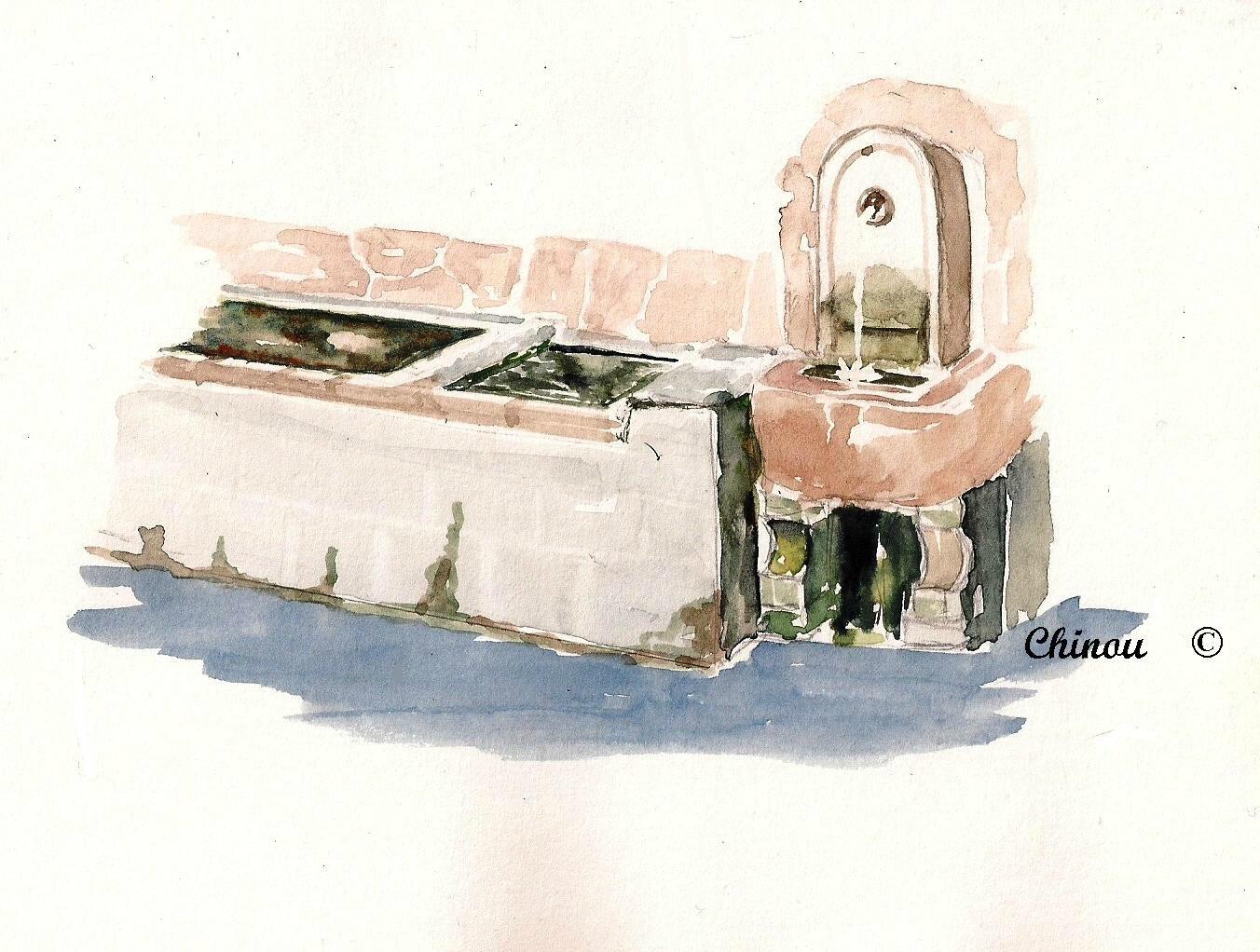 Lavoir fontaine Lucéram