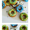 Donuts aux couleurs d'un mariage