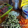 Boulettes de veau et ses légumes au curry