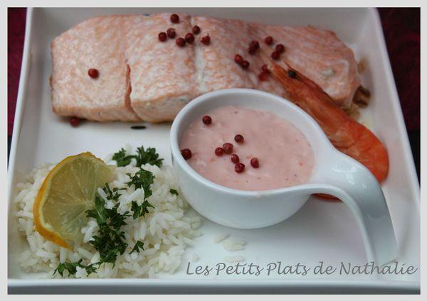 saumon sauce crevette