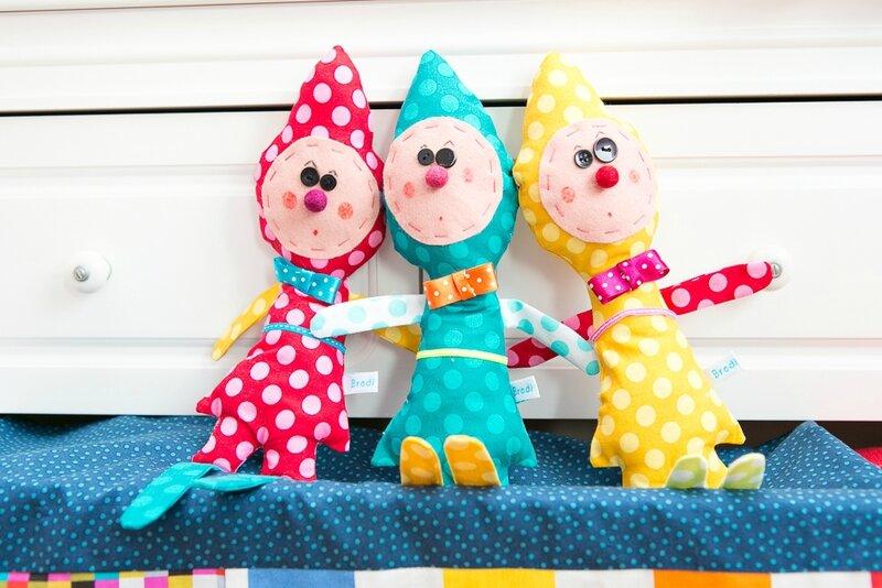 BRODI BRODA -clown-création textile pour enfant