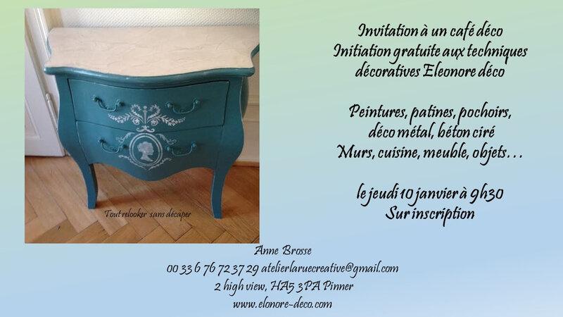 invitation café déco