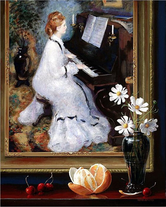 jenness cortez woman at the piano