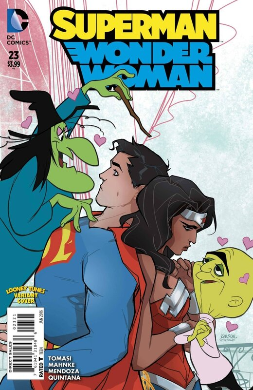 superman wonder woman 23 looney tunes variant