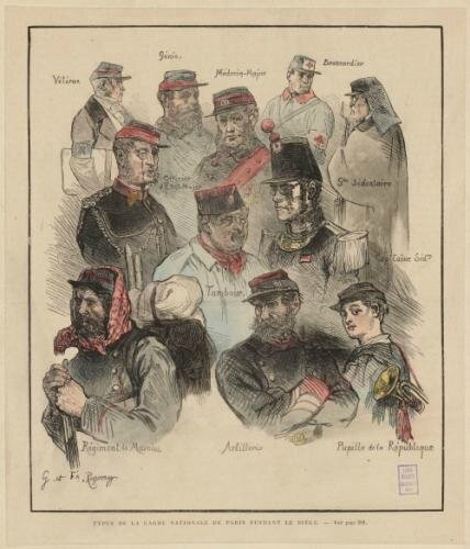 Régamey (Guillaume), Types de la garde nationale de Paris 1870