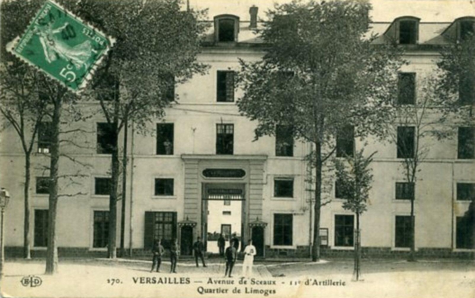 Versailles, Quartier de Limoges, avenue de Sceaux, caserne du 11e régiment d'artillerie