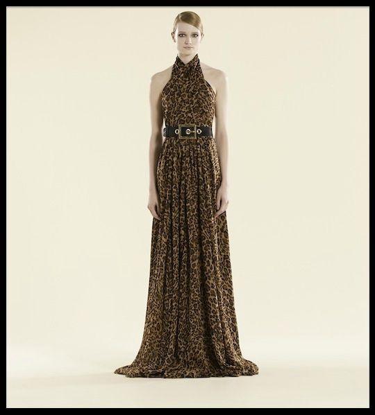 gucci robe longue jaguar