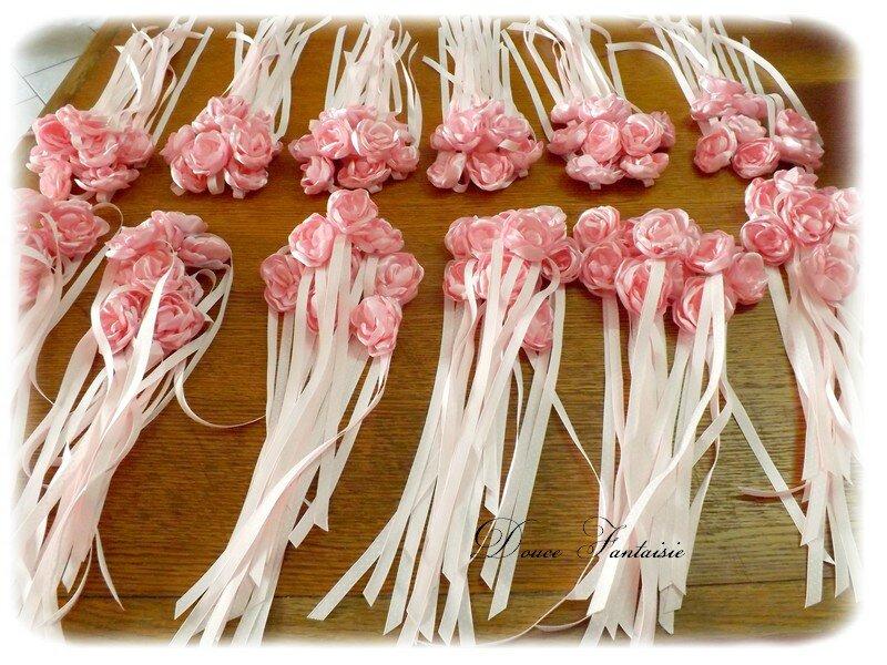 Rond de serviette rose
