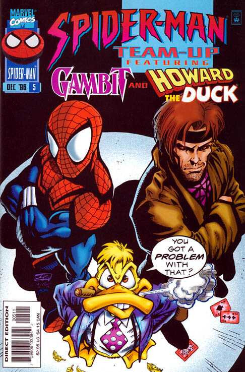 spiderman team-up 1995 05 spiderman & gambit & howard the duck