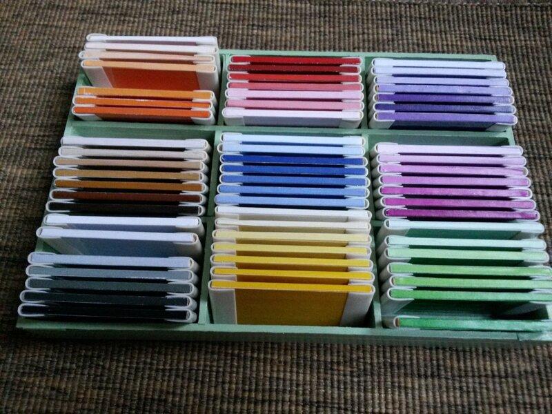 2e la troisième boite de couleurs