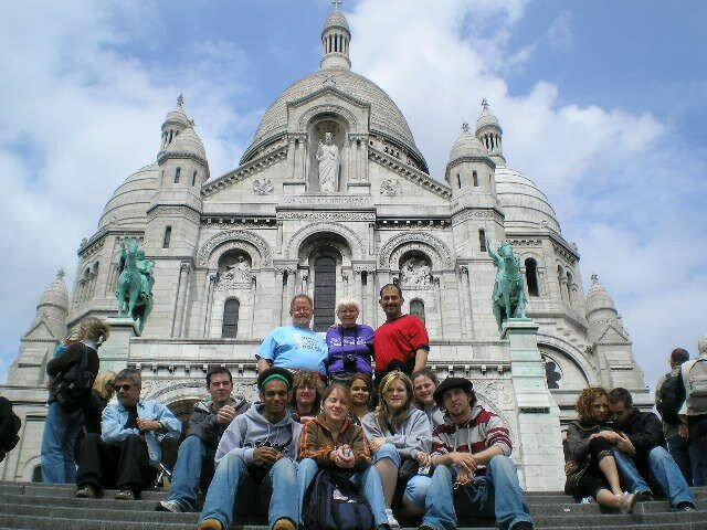 Students and staffs at the Sacre Coeur