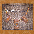 Collier rectangles multi orange marron NATH S (N)