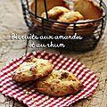 Biscuits aux amandes et au rhum