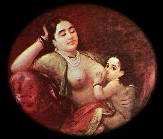 Ravi Varmâ - Allaitement - Inde - Fin 19ème