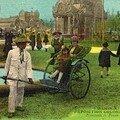 10. Exposition coloniale Marseille 1922 Pousse pousse.