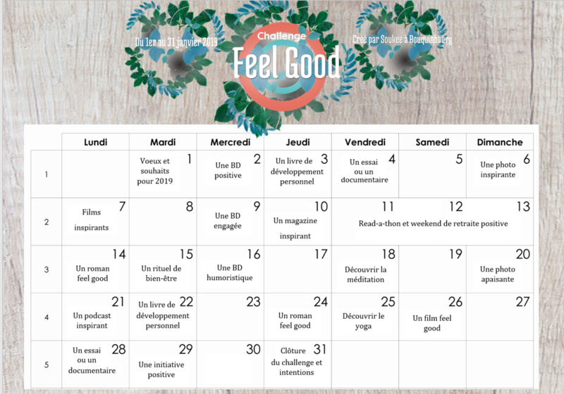 Calendrier Challenge Feel Good