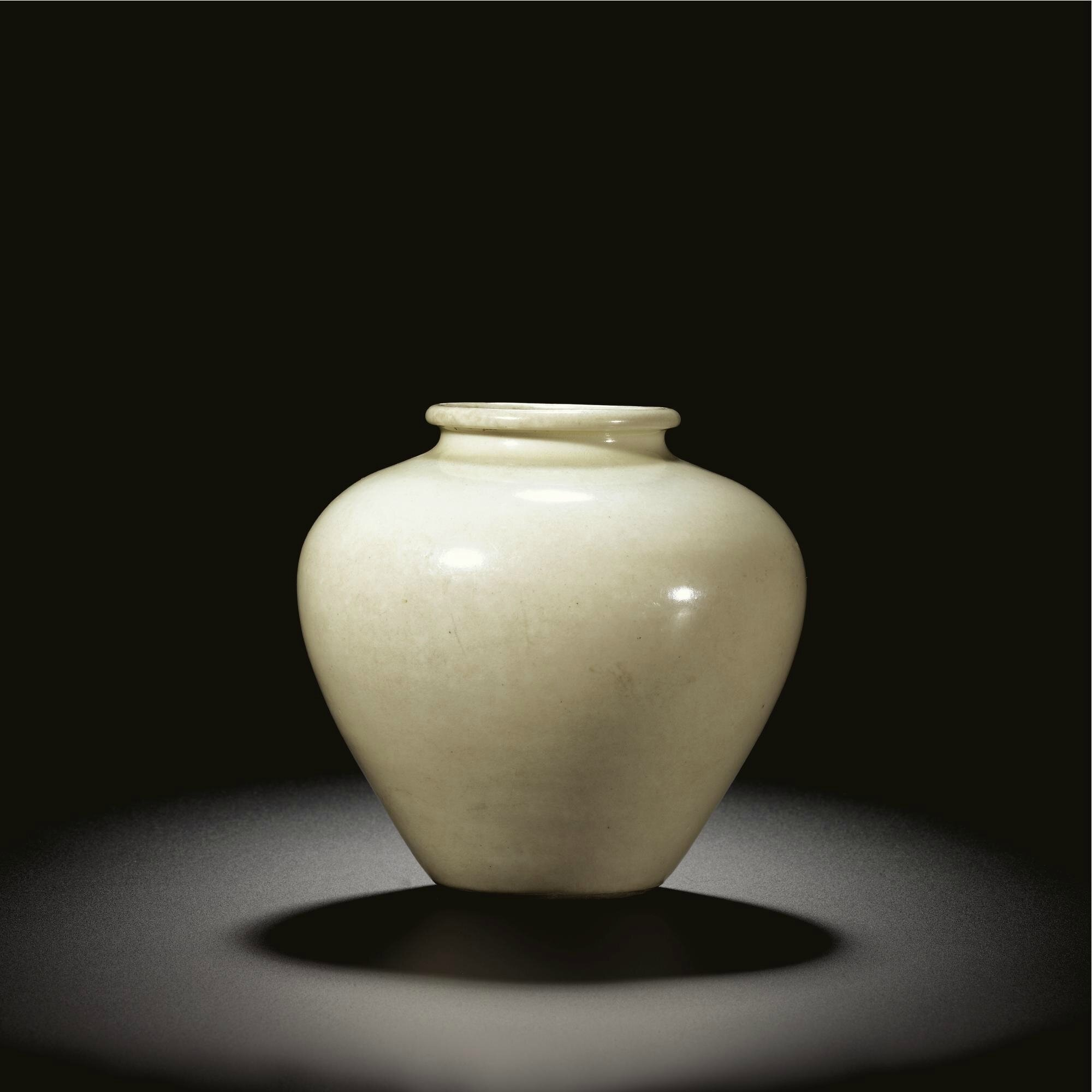 A rare inscribed 'Xing' jar, Tang dynasty
