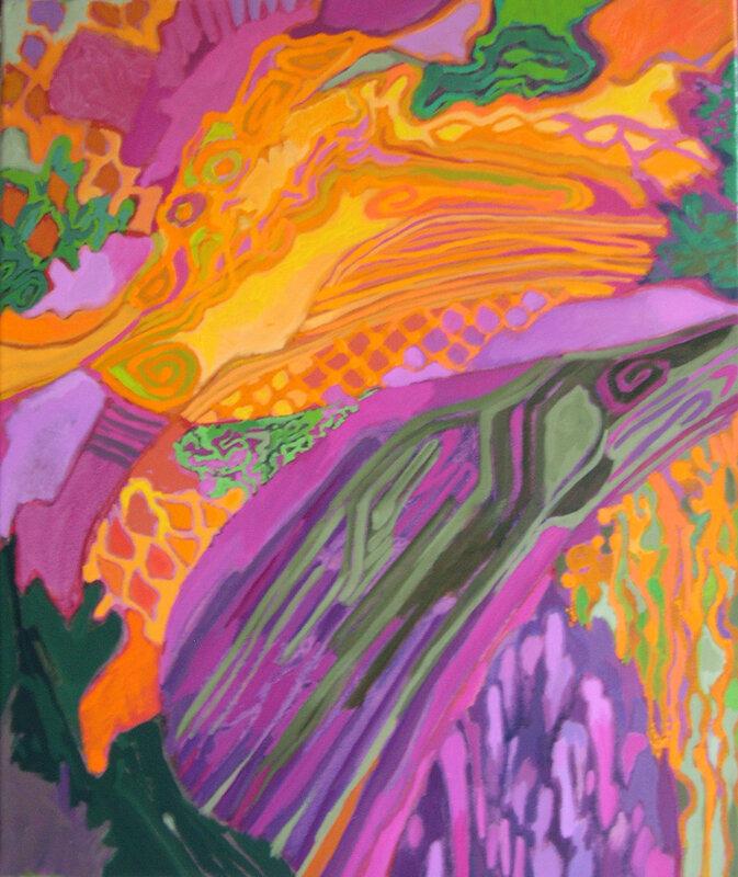 2007-Série Les Floralies-ORANGE-huile-55x46cm