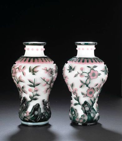 A_pair_of_two_color_overlay_glass_vases