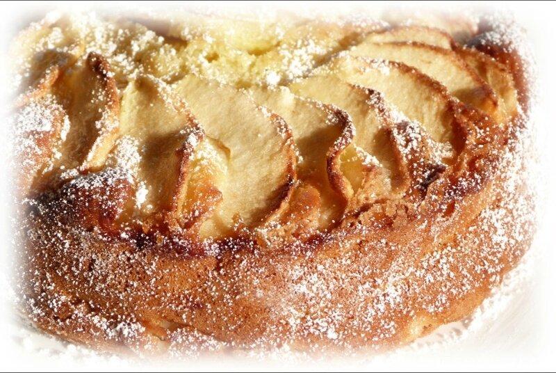gâteau crème pommes3