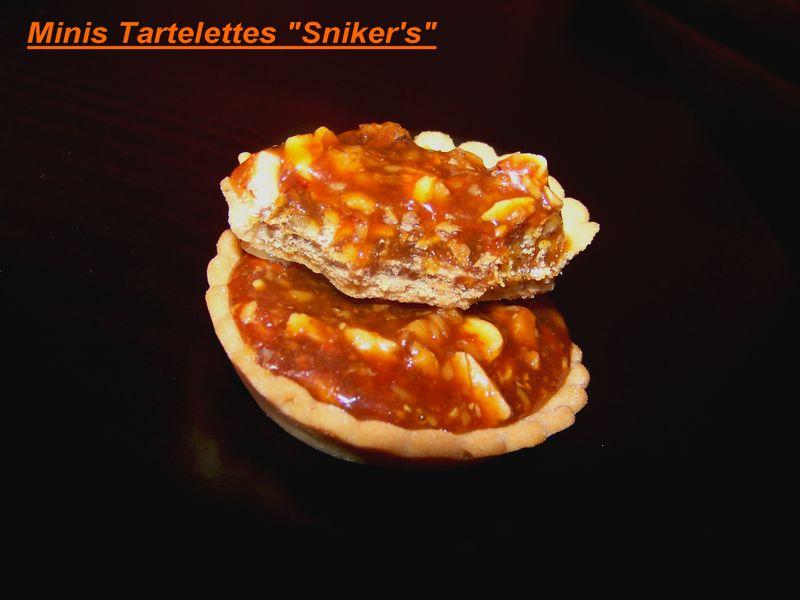 """Minis Tartelettes façon """" sniker's""""!!"""