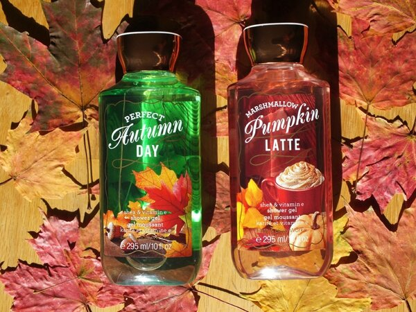 2 Automne Bath&Body Works Marshmallow Pumkin Latte Perfect Autumn Day Gel Douche