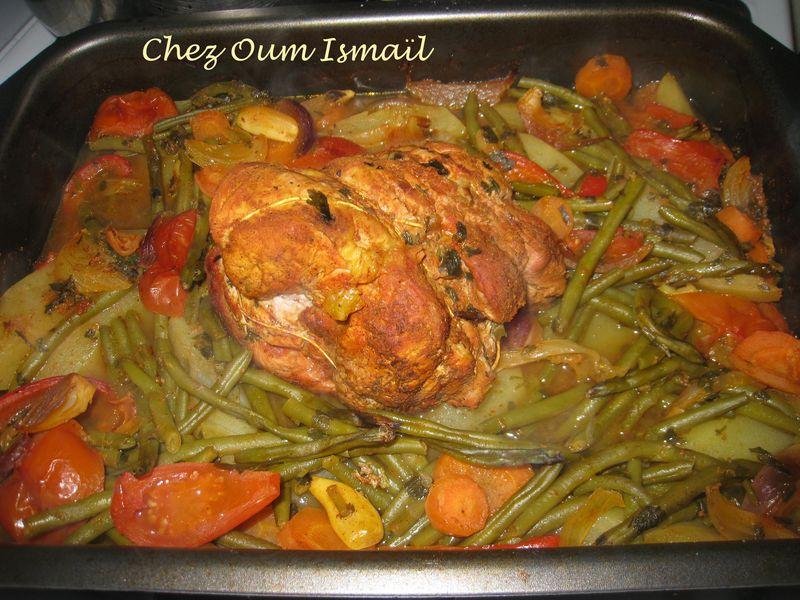 Roti De Veau Et Legumes Au Four La Cuisine Facile De Mymy