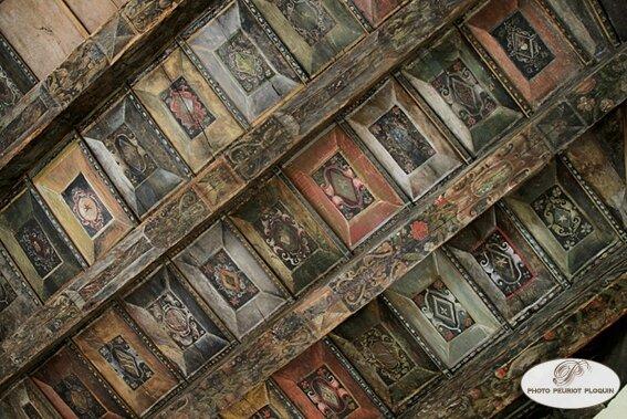 CUREMONTE_chateau_de_Plas_plafond_en_bois_peint