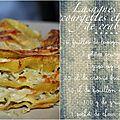 Lasagnes aux courgettes et chair de crabe