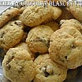 Cookies au chocolat blanc et figues seches
