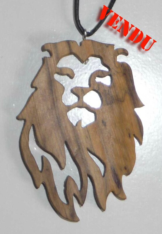 Collier lion Saint Valentin vendu