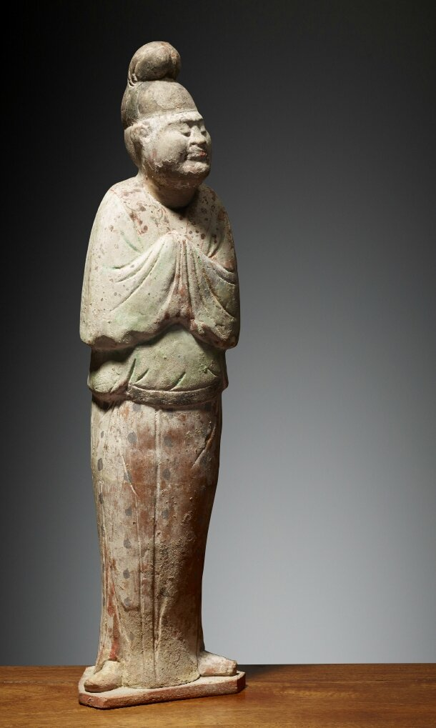 Courtisan, Chine, Dynastie des Tang (618 – 907), ca 8°siècle