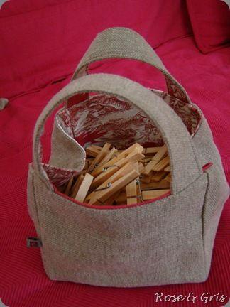 sac à pinces à linge