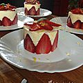 Entremet mousseux au citron et aux fraises