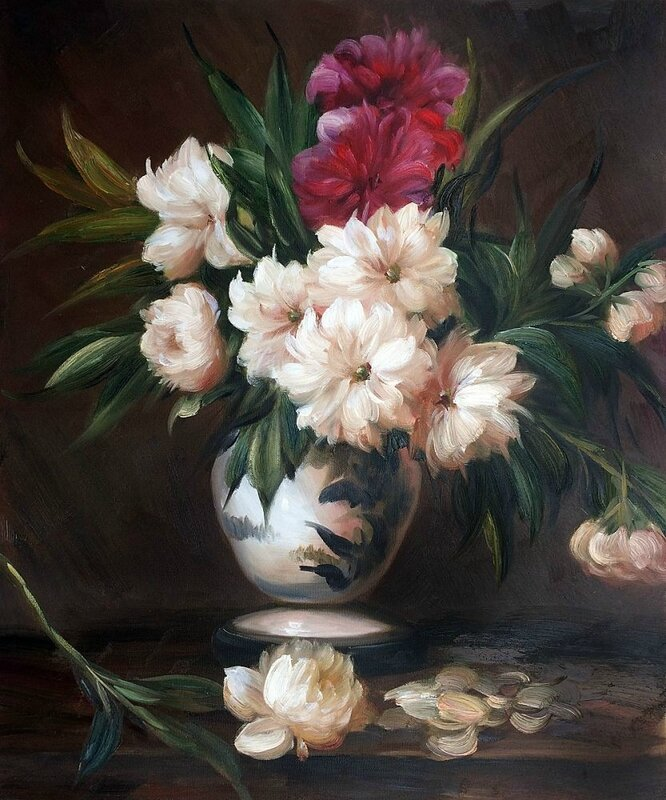 Vase de pivoines d'Edouard Manet