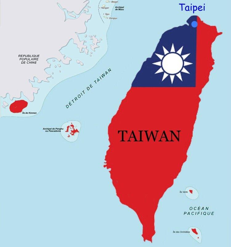 Carte Taïwan CM 1978 1981 Taipei