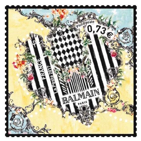 la poste timbre coeur balmain 1